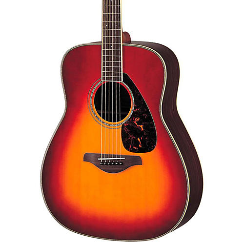 Yamaha FG730S Solid Top Acoustic Guitar Cherry Sunburst