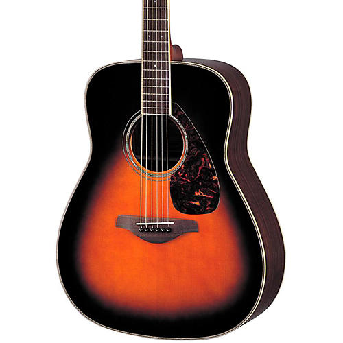 Yamaha fg730s solid top acoustic guitar tobacco sunburst for Yamaha solid top