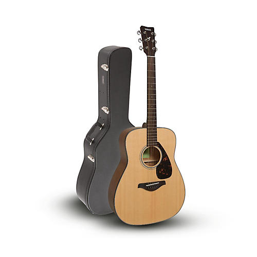 Yamaha FG800 Folk Acoustic Guitar Natural with Road Runner RRDWA  Case-thumbnail