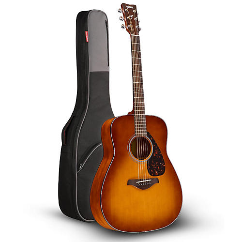 Yamaha FG800 Folk Acoustic Guitar Sand Burst with Road Runner RR1AG Gig Bag