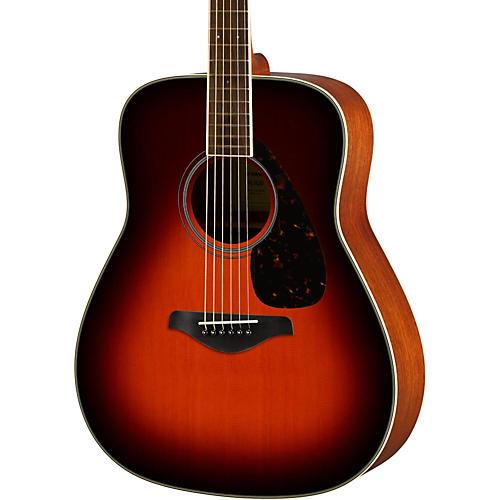 Yamaha FG820 Dreadnought Acoustic Guitar Brown Sunburst