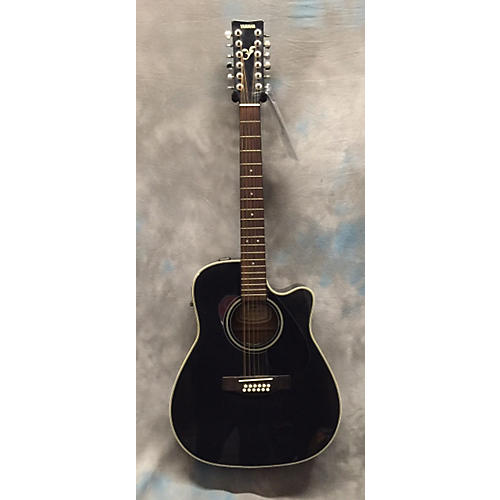 Yamaha FGX412-12BL 12 String Acoustic Electric Guitar-thumbnail