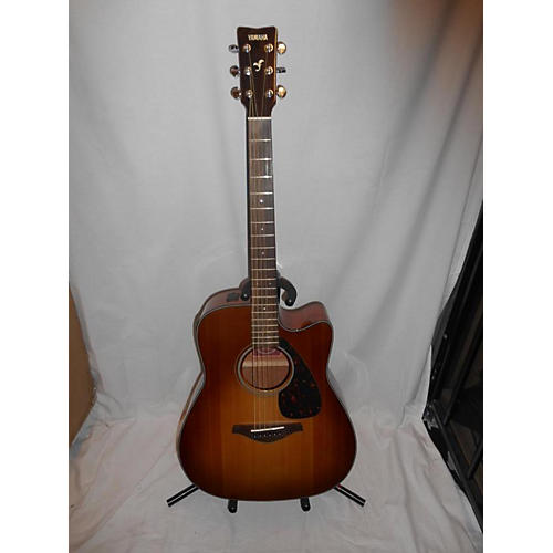 used yamaha fgx700sc acoustic electric guitar vintage sunburst guitar center. Black Bedroom Furniture Sets. Home Design Ideas