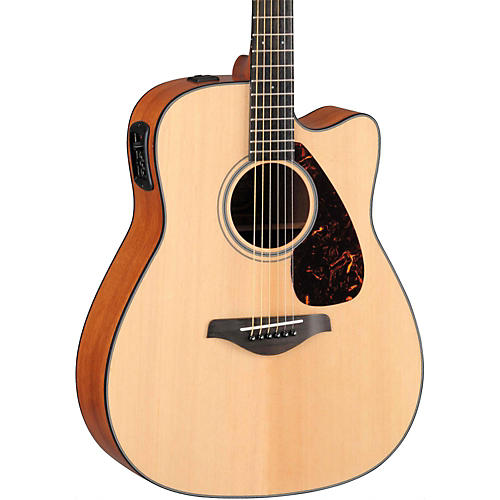 Yamaha FGX700SC Solid Top Cutaway Acoustic-Electric Guitar Natural
