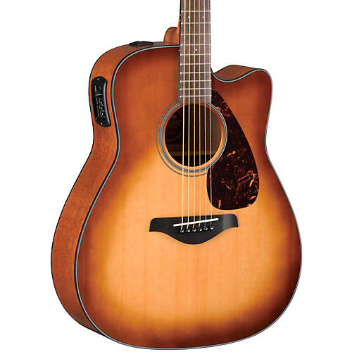 yamaha fgx700sc solid top cutaway acoustic electric guitar sand burst guitar center. Black Bedroom Furniture Sets. Home Design Ideas