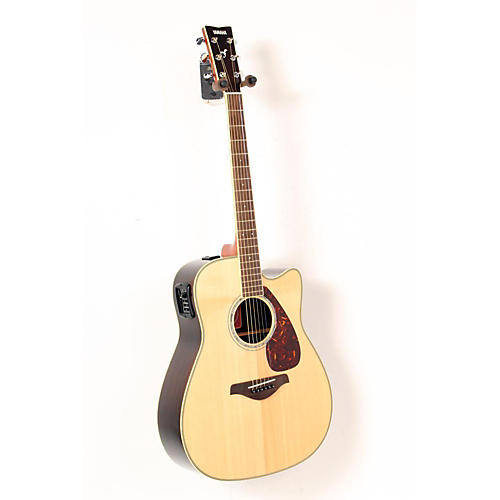 Yamaha FGX730SC Solid Top Acoustic-Electric Guitar Natural 888365262895