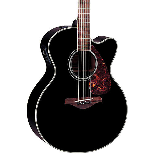 Yamaha FJX720SC Solid Spruce Top Mahogany Acoustic-Electric Guitar Black