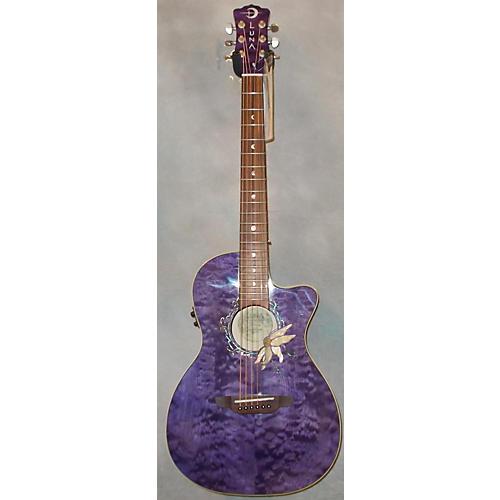 Luna Guitars FLO PF QM Acoustic Electric Guitar