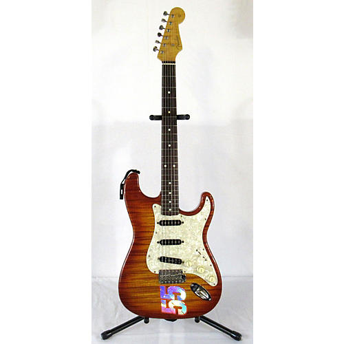 Fender FOTO FLAME STRATOCASTER Solid Body Electric Guitar-thumbnail