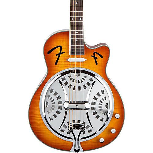 Fender FR50CE Cutaway Acoustic-Electric Resonator Guitar Sunburst