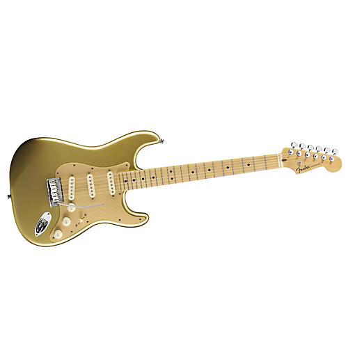 Fender FSR American Deluxe Stratocaster Electric Guitar Aztec Gold