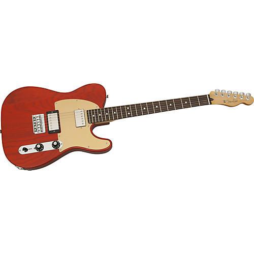 Fender FSR Blacktop Ash Telecaster Electric Guitar Transparent Sunset Orange Rosewood Fretboard