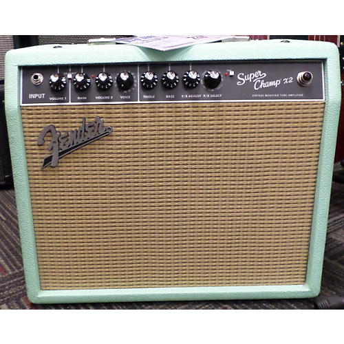 Fender FSR Super Champ X2 15W 1x10 Seafoam Green Tube Guitar Combo Amp