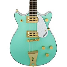 Gretsch Guitars FSR Two-Tone Electromatic Double Jet Electric Guitar Level 1 Surf Green and White