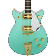 FSR Two-Tone Electromatic Double Jet Electric Guitar Surf Green and White