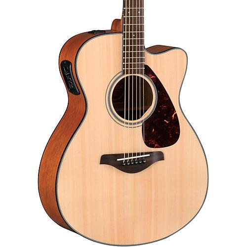 yamaha fsx700sc solid top concert cutaway acoustic electric guitar natural guitar center. Black Bedroom Furniture Sets. Home Design Ideas