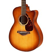 FSX700SC Solid Top Concert Cutaway Acoustic-Electric Guitar Sand Burst