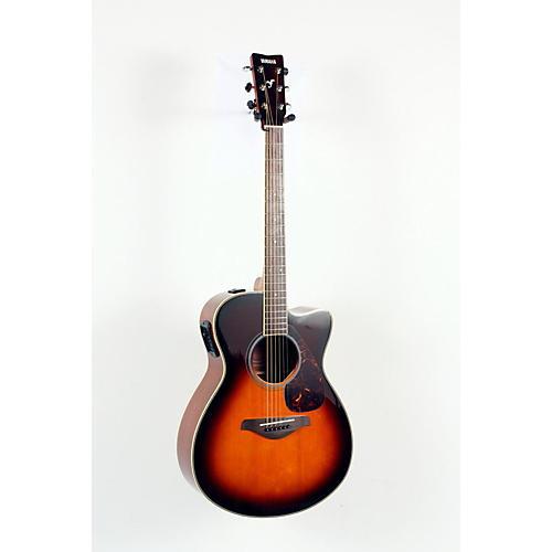 Yamaha FSX720SC Solid Top Concert Cutaway Acoustic-Electric Guitar