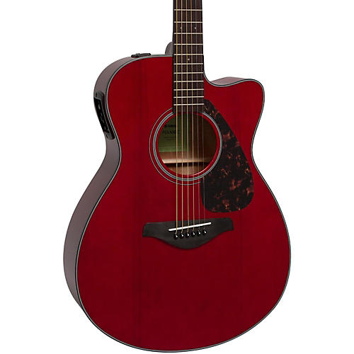 yamaha fsx800c small body acoustic electric guitar ruby red guitar center. Black Bedroom Furniture Sets. Home Design Ideas
