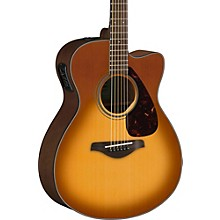 FSX800C Small Body Acoustic-Electric Guitar Sand Burst