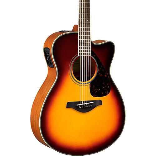 yamaha fsx820c small body acoustic electric guitar brown sunburst guitar center. Black Bedroom Furniture Sets. Home Design Ideas