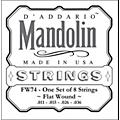 D'Addario FW74 Flatwound Medium Mandolin Strings  Thumbnail