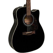 FX335C Dreadnought Acoustic-Electric Guitar Black