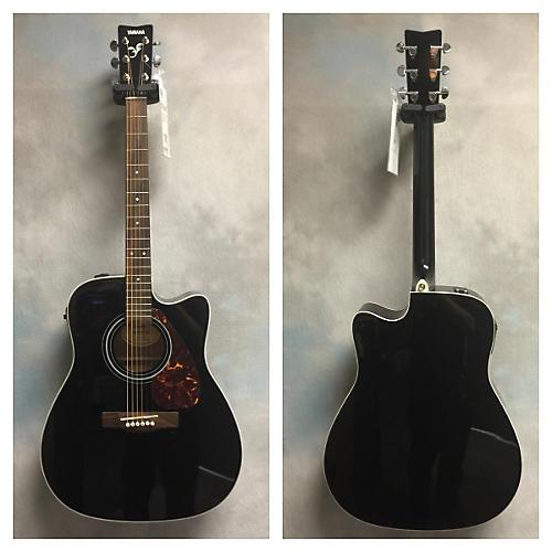 Yamaha FX370C Black Acoustic Electric Guitar