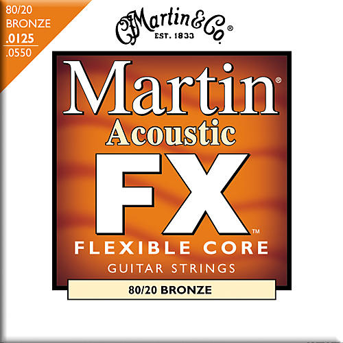 Martin FX645 80/20 Bronze Acoustic Light/Medium Strings
