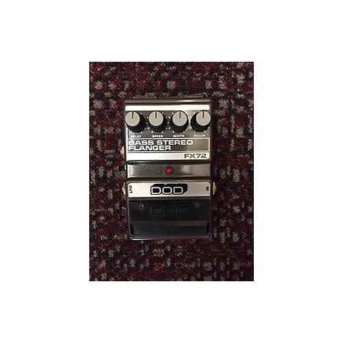 In Store Used FX72 STEREO FLANGER Gunmetal Gray Bass Effect Pedal