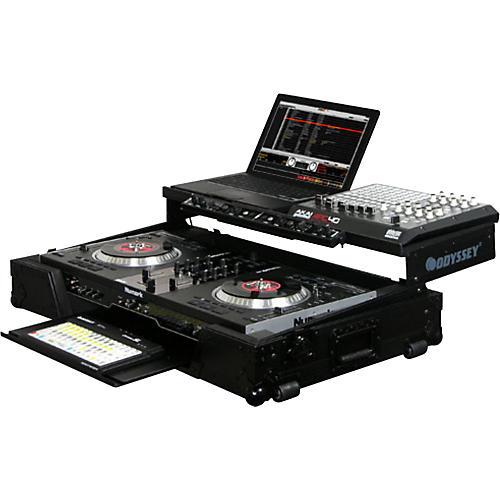 Odyssey FZGSNS7WFXBL Glide Style DJ Coffin Case for Numark NS7FX