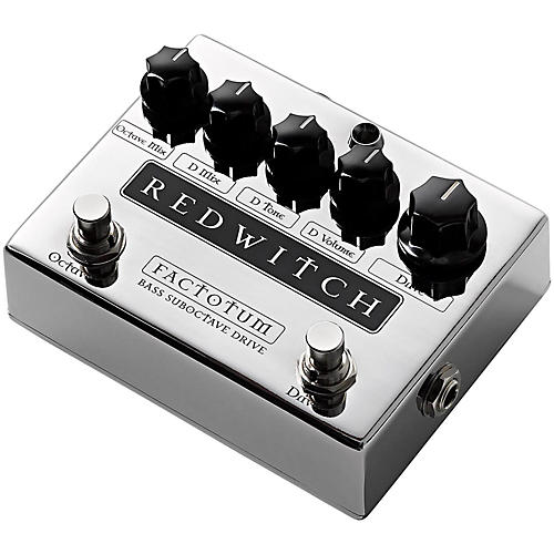 Red Witch Factotum Bass Suboctave Overdrive Guitar Effects Pedal-thumbnail