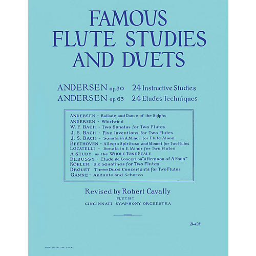 Hal Leonard Famous Flute Studies and Duets (The Big Blue Book) Robert Cavally Editions Series