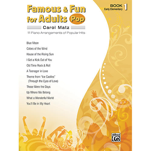 Alfred Famous & Fun for Adults Pop Book 1 Piano-thumbnail
