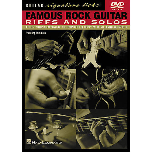 Hal Leonard Famous Rock Guitar Riffs and Solos DVD