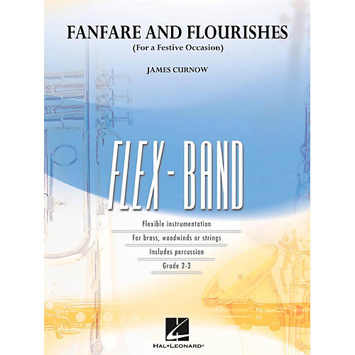 Hal Leonard Fanfare And Flourishes (For A Festive Occasion) - Flexband Series Level 2-3-thumbnail