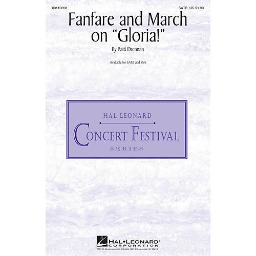 Hal Leonard Fanfare and March on Gloria! SATB composed by Patti Drennan