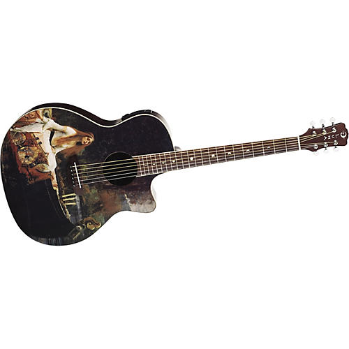 Luna Guitars Fantasie Lady of Shalott Grand Auditorium Cutaway Acoustic-Electric Guitar