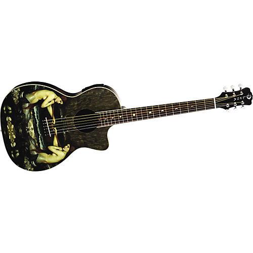 Luna Guitars Fantasie Mermaid Small Parlor Acoustic Electric Guitar-thumbnail