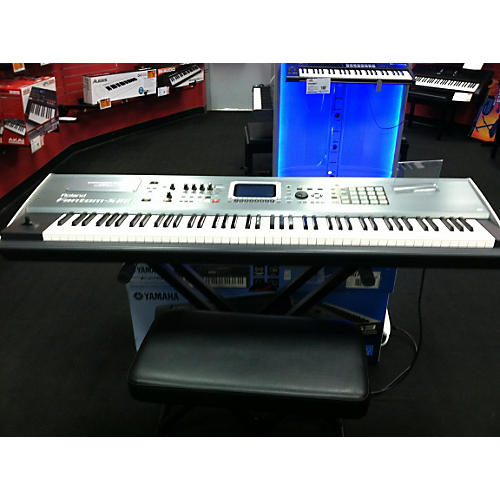 Roland Fantom S-88 Chrome Silver Keyboard Workstation-thumbnail