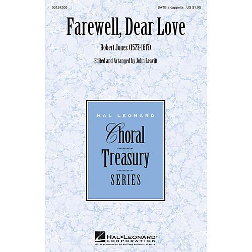 Hal Leonard Farewell, Dear Love SATB a cappella arranged by John Leavitt
