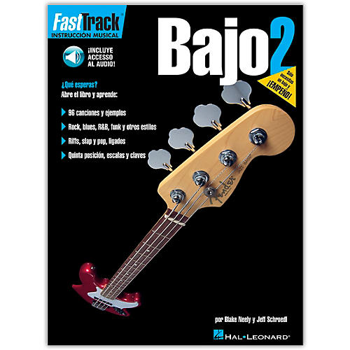 Hal Leonard FastTrack Bass Method Book 2 Book/CD Spanish Edition-thumbnail