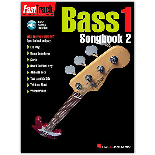 Hal Leonard FastTrack Bass Songbook 2, Level 1 (Book/Online Audio)-thumbnail