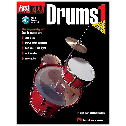 Hal Leonard FastTrack Drum Method 1 (Book/Online Audio)-thumbnail