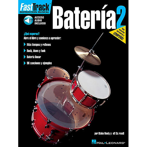 Hal Leonard FastTrack Drum Method Book 1 Book/CD - Spanish Edition-thumbnail