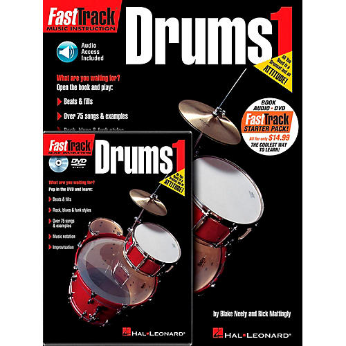 Hal Leonard FastTrack Drum Method Starter Pack (Book/Online Media)-thumbnail