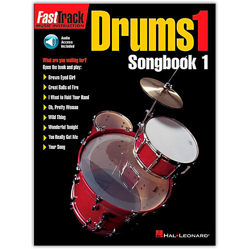 Hal Leonard FastTrack Drums1 Songbook 1 (Book/Online Audio)-thumbnail