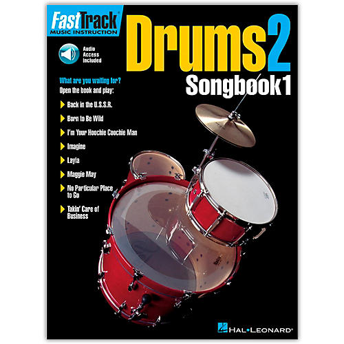 Hal Leonard FastTrack Drums2 Songbook 1 (Book/Online Audio)-thumbnail
