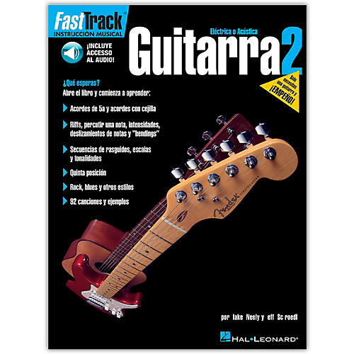 Hal Leonard FastTrack Guitar Method Book 2, Spanish Edition (Book/Online Audio)-thumbnail