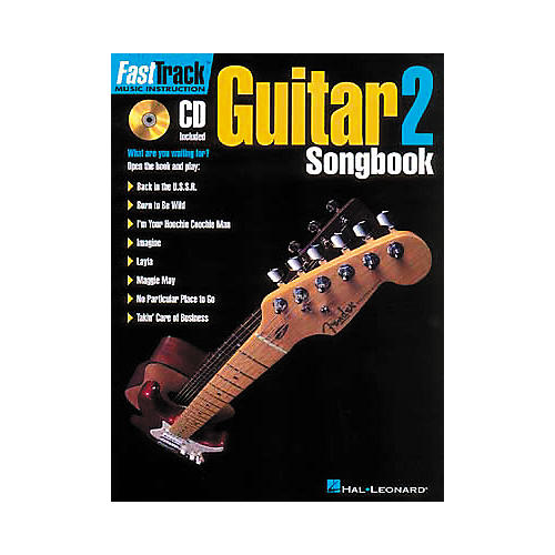 Hal Leonard FastTrack Guitar Songbook 1 - Level 2 (CD and Book)-thumbnail